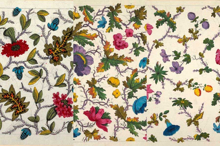 Free vintage flower patterns
