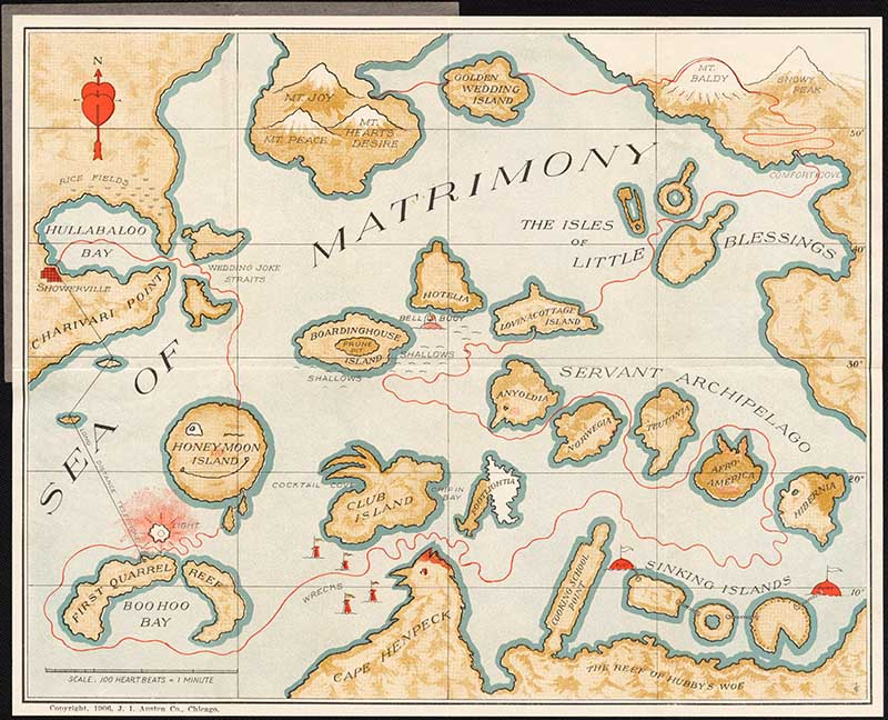 Maps of Love Pocket map of Sea Matrimony