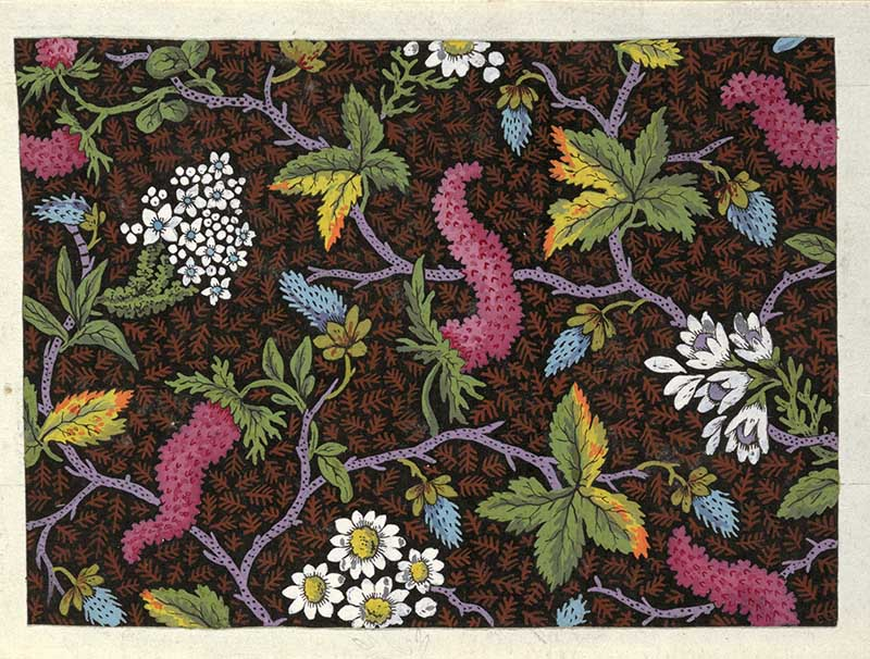 flower textiles White and pink floral design