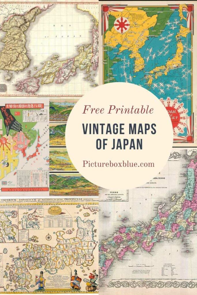Old maps of Japan for free