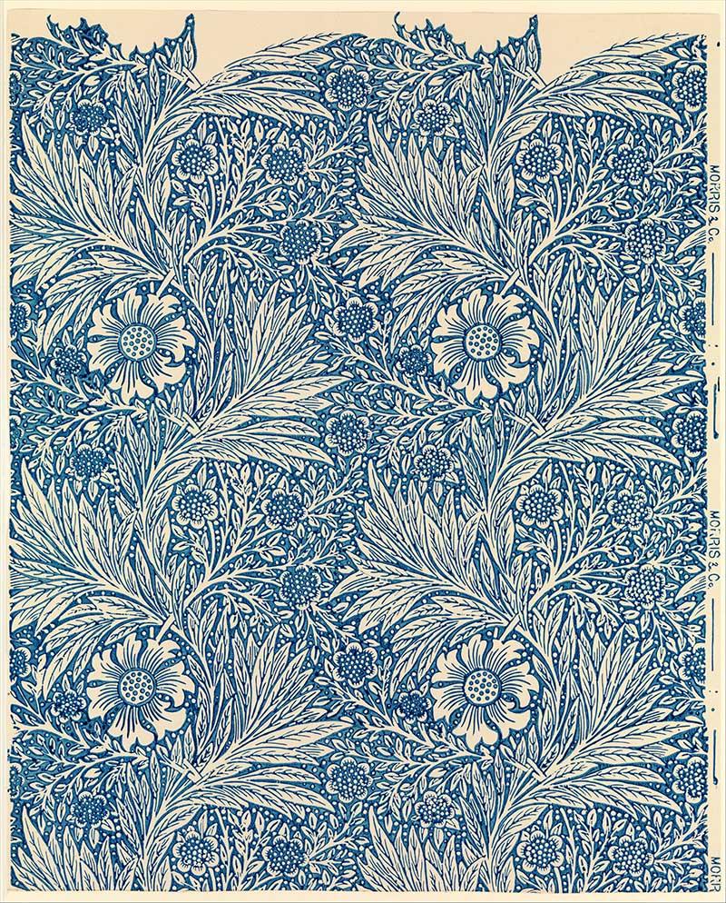 William Morris Flower Pattern Marigold