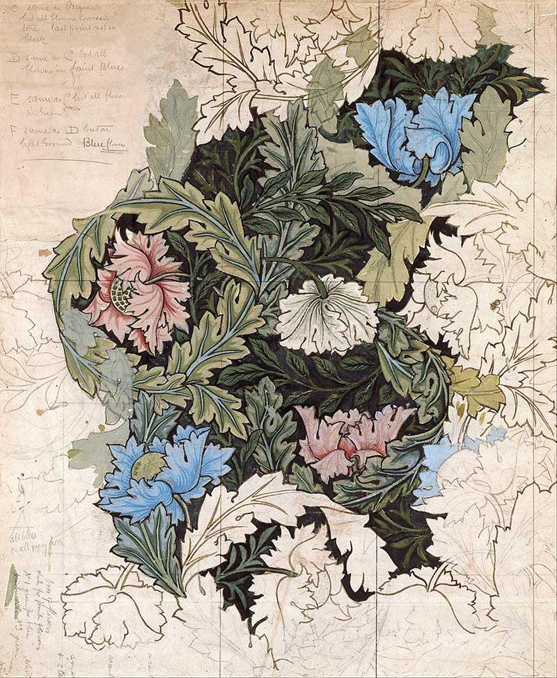 Original William Morris flower pattern