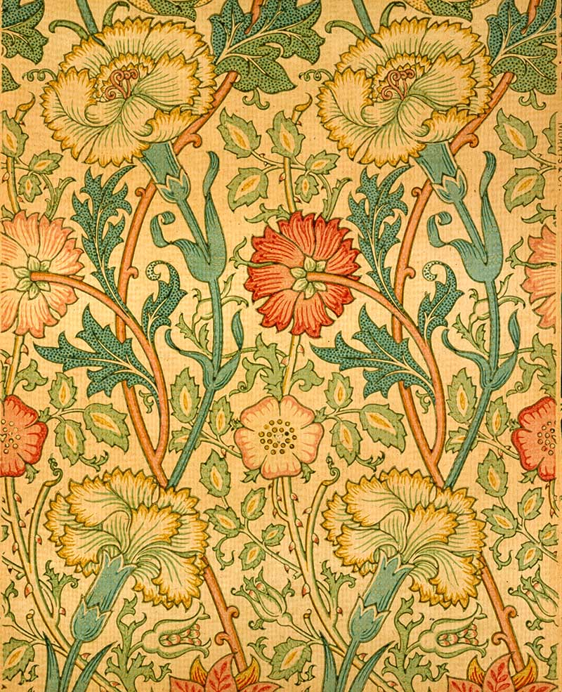 Pink and Rose William Morris designs
