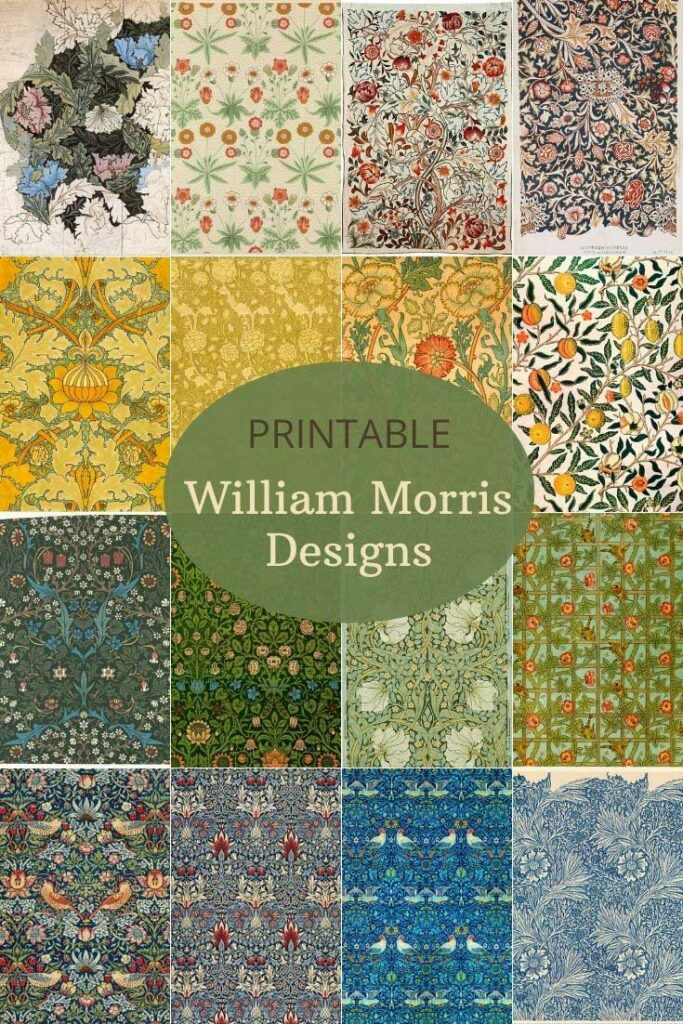 William Morris Interior design patterns