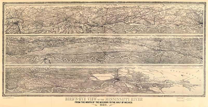 Bird's eye view of Mississippi