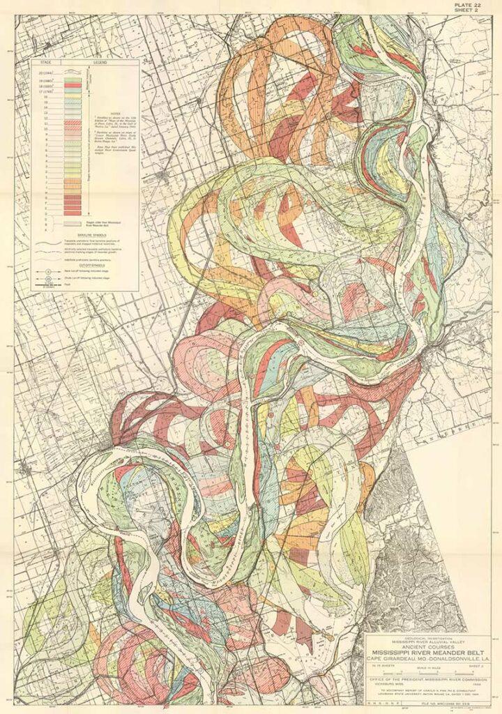 Fisk Meandering Mississippi River Map 2