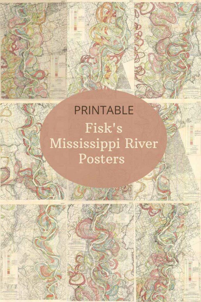 Free Mississippi River color maps