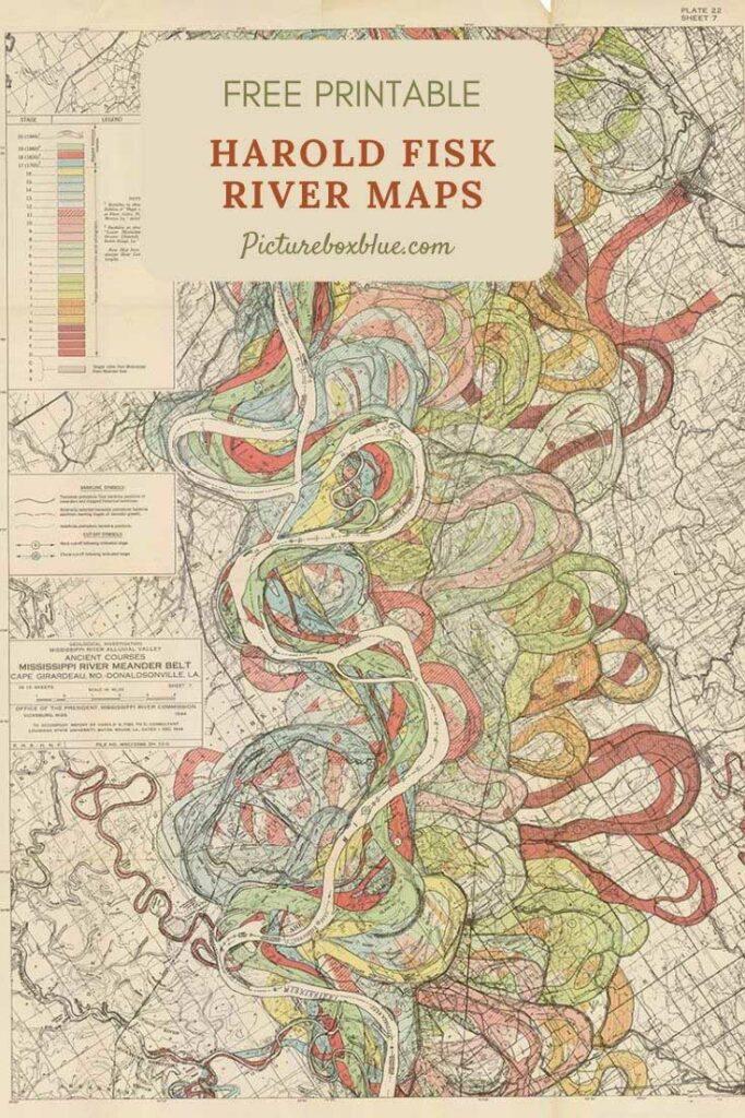Meandering Mississippi River Maps