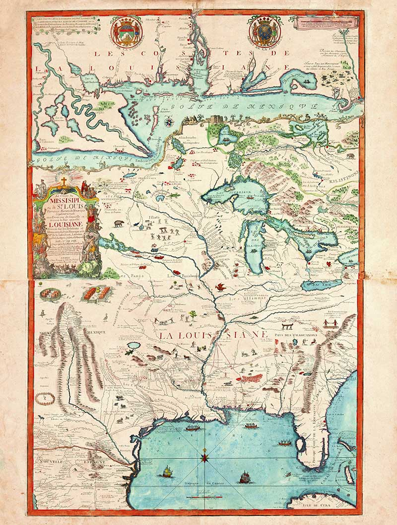 1718 Map of the Mississippi River