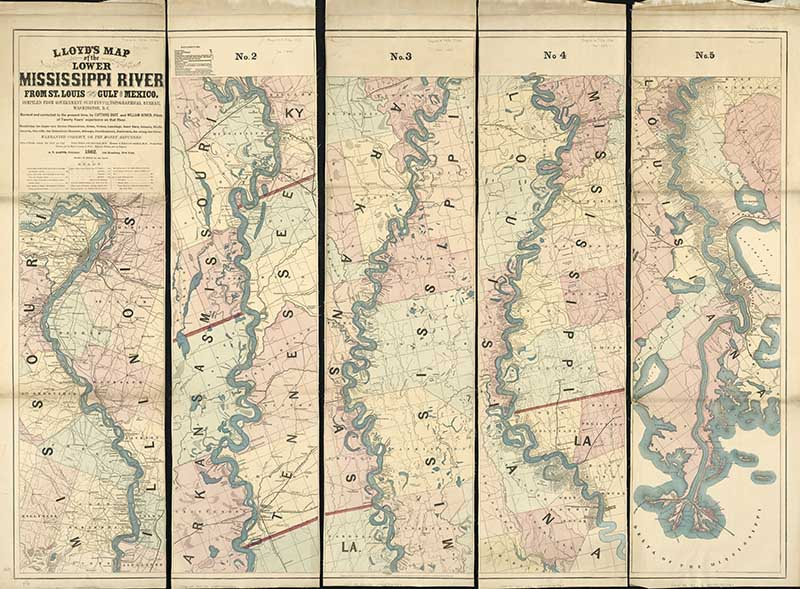 1862 Map of Lower Mississippi