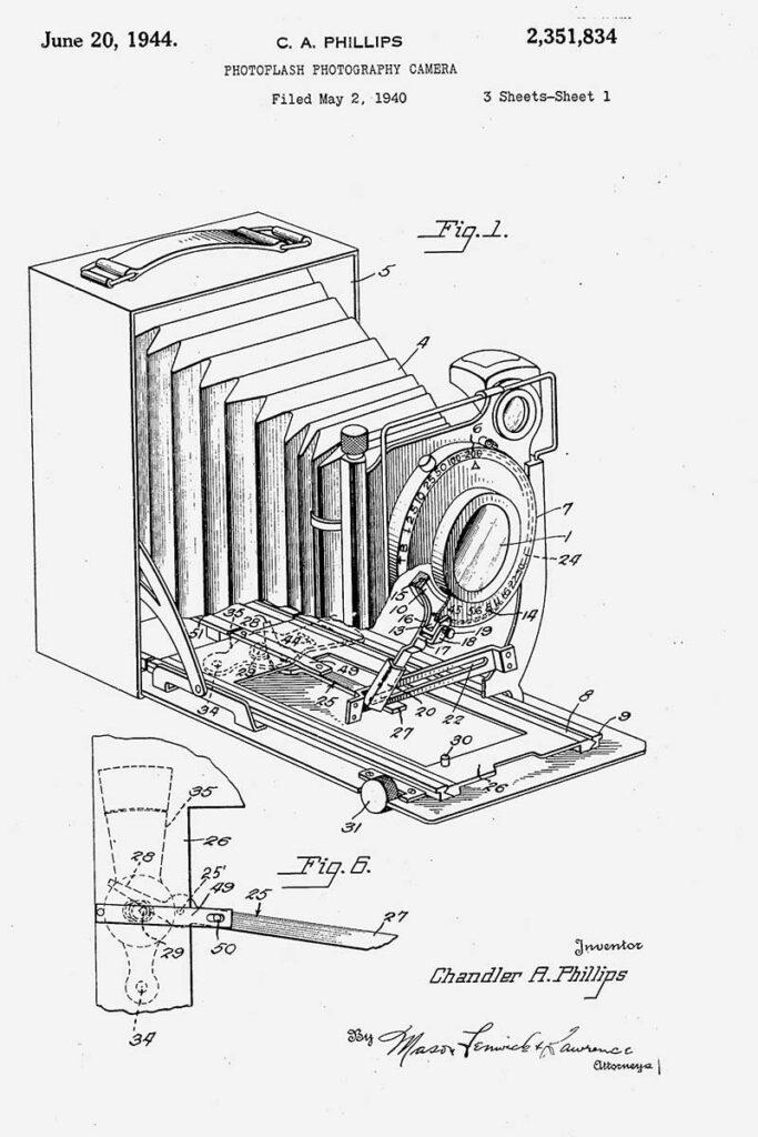 camera patent photoflash