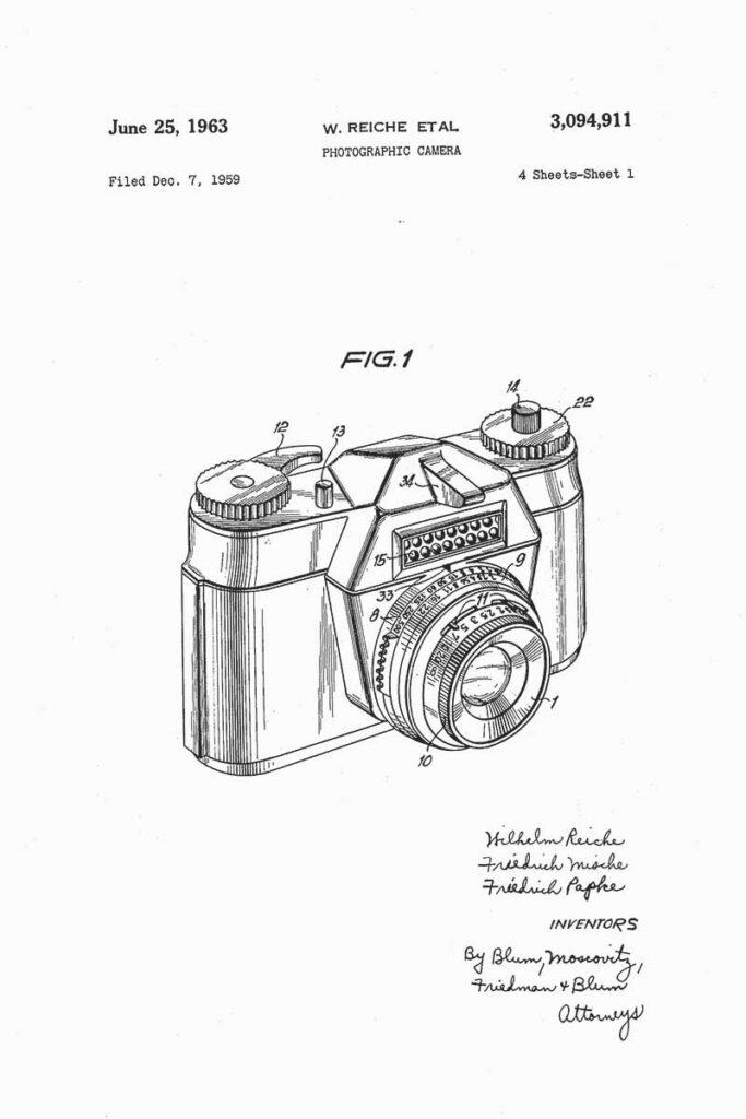 1963 camera patent