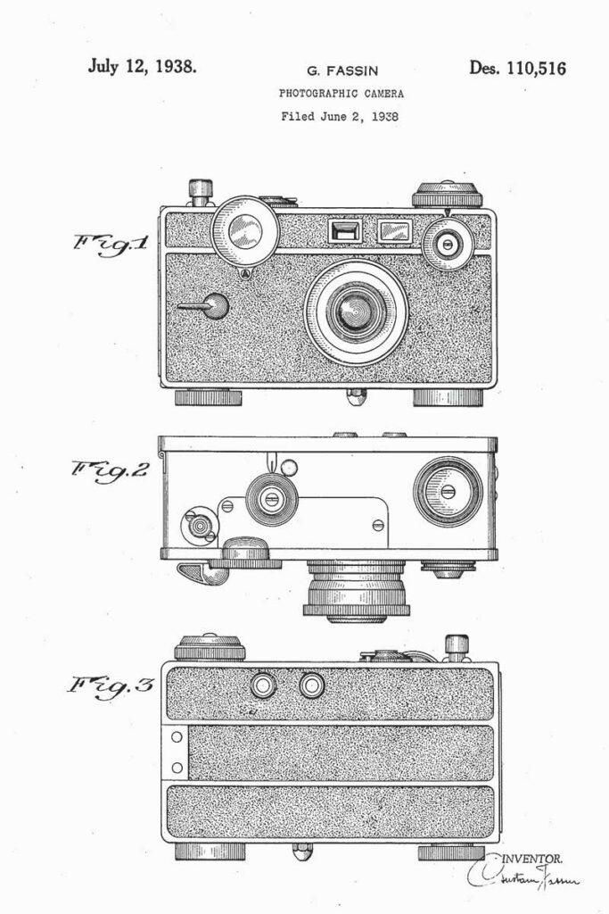 1938 camera-patent