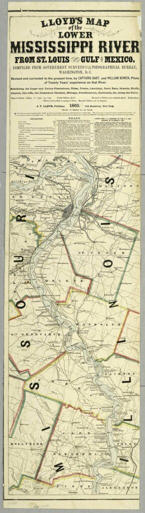 llyods Map 1863