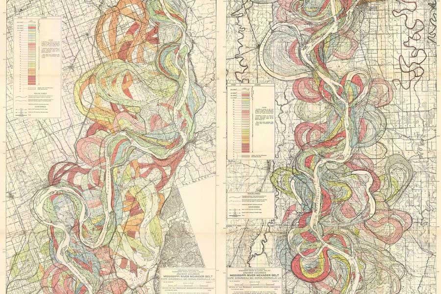 Meandering Mississippi Maps