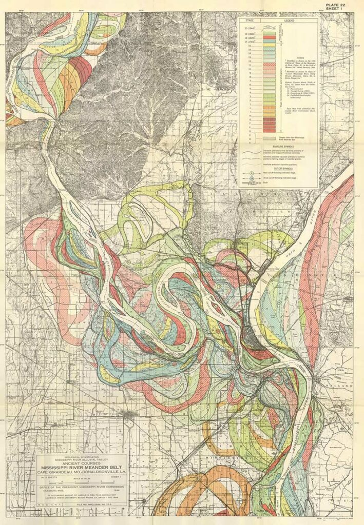 Fisks Meandering Mississippi River Map 1