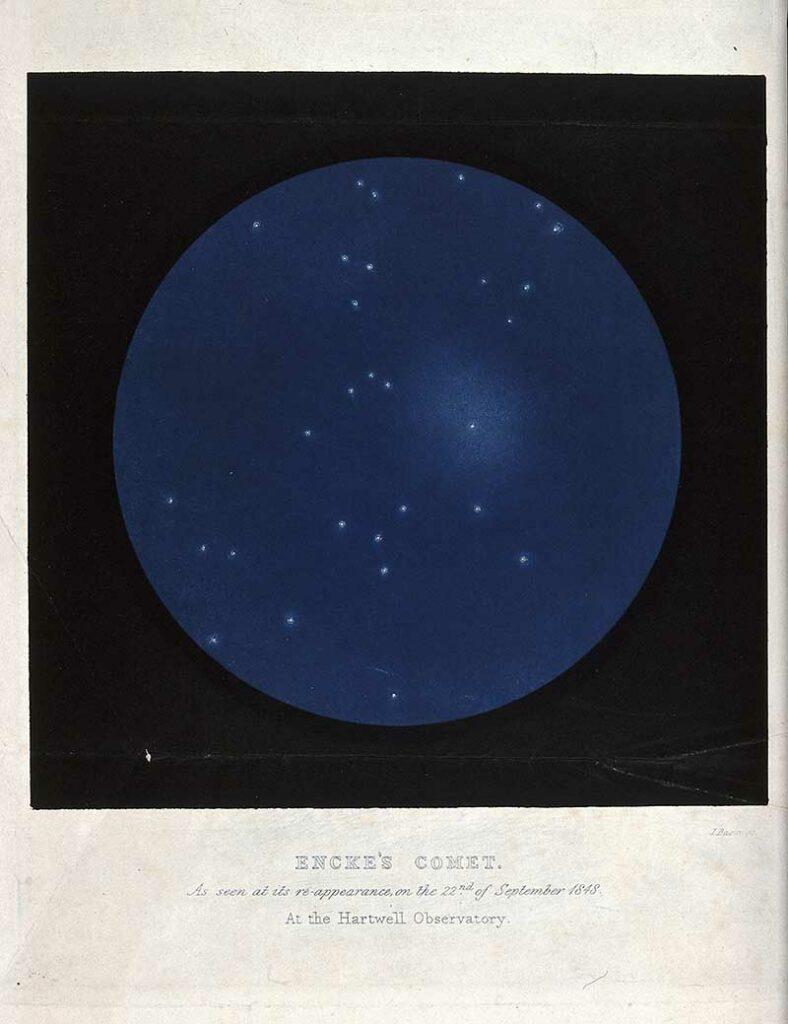 Astronomical poster of Encke's comet