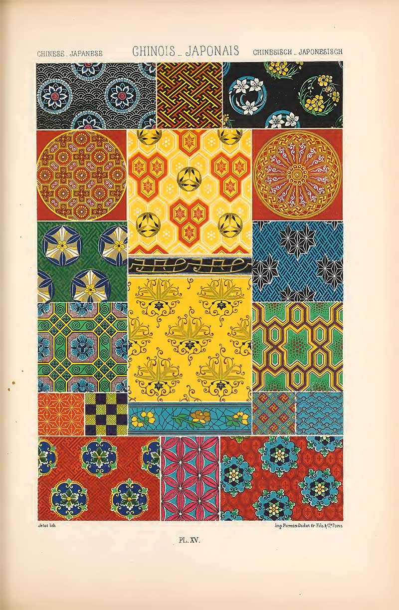 Chinese and Japanese Art patterns
