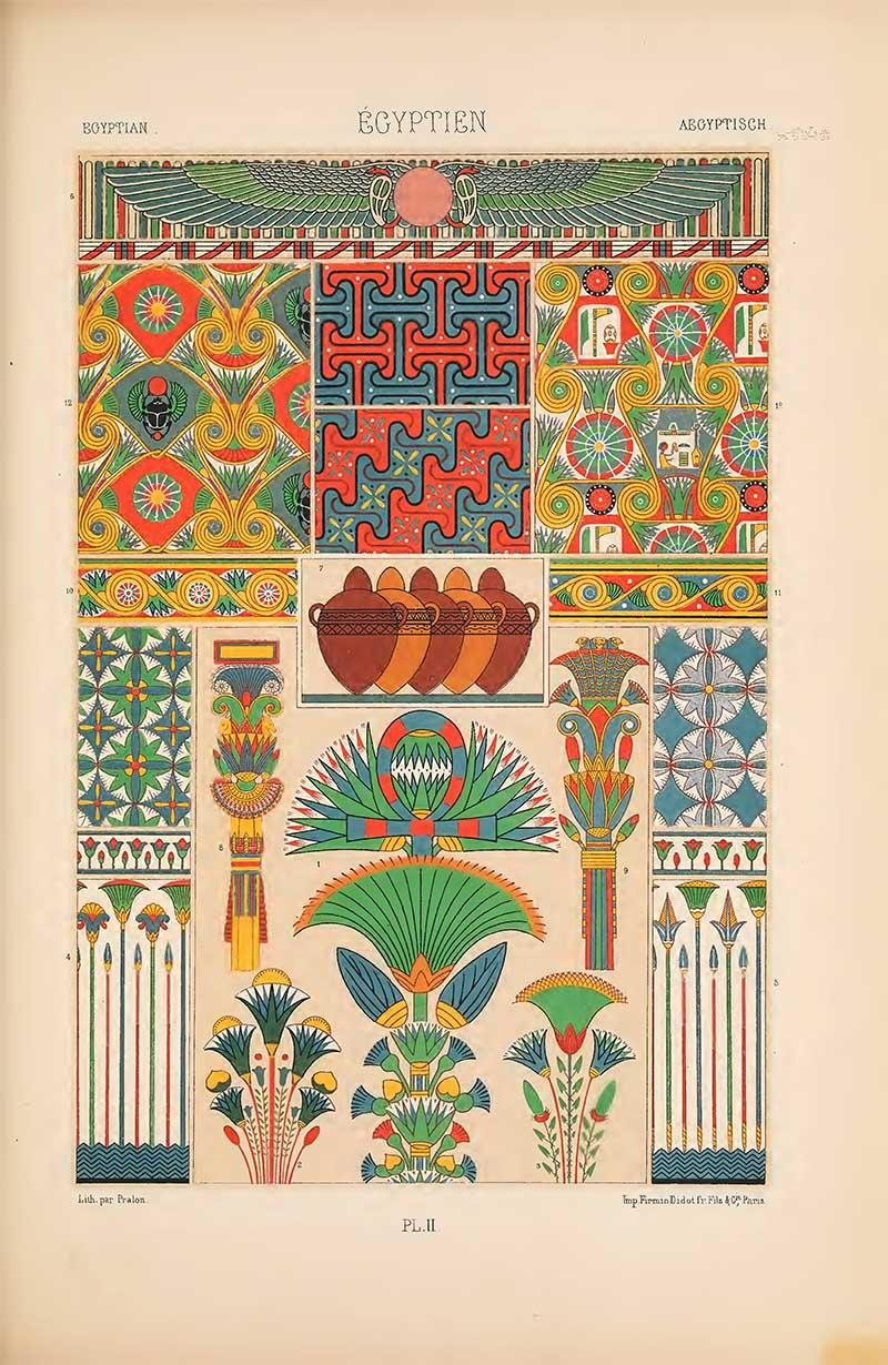Polychrome Ornament Egyptian