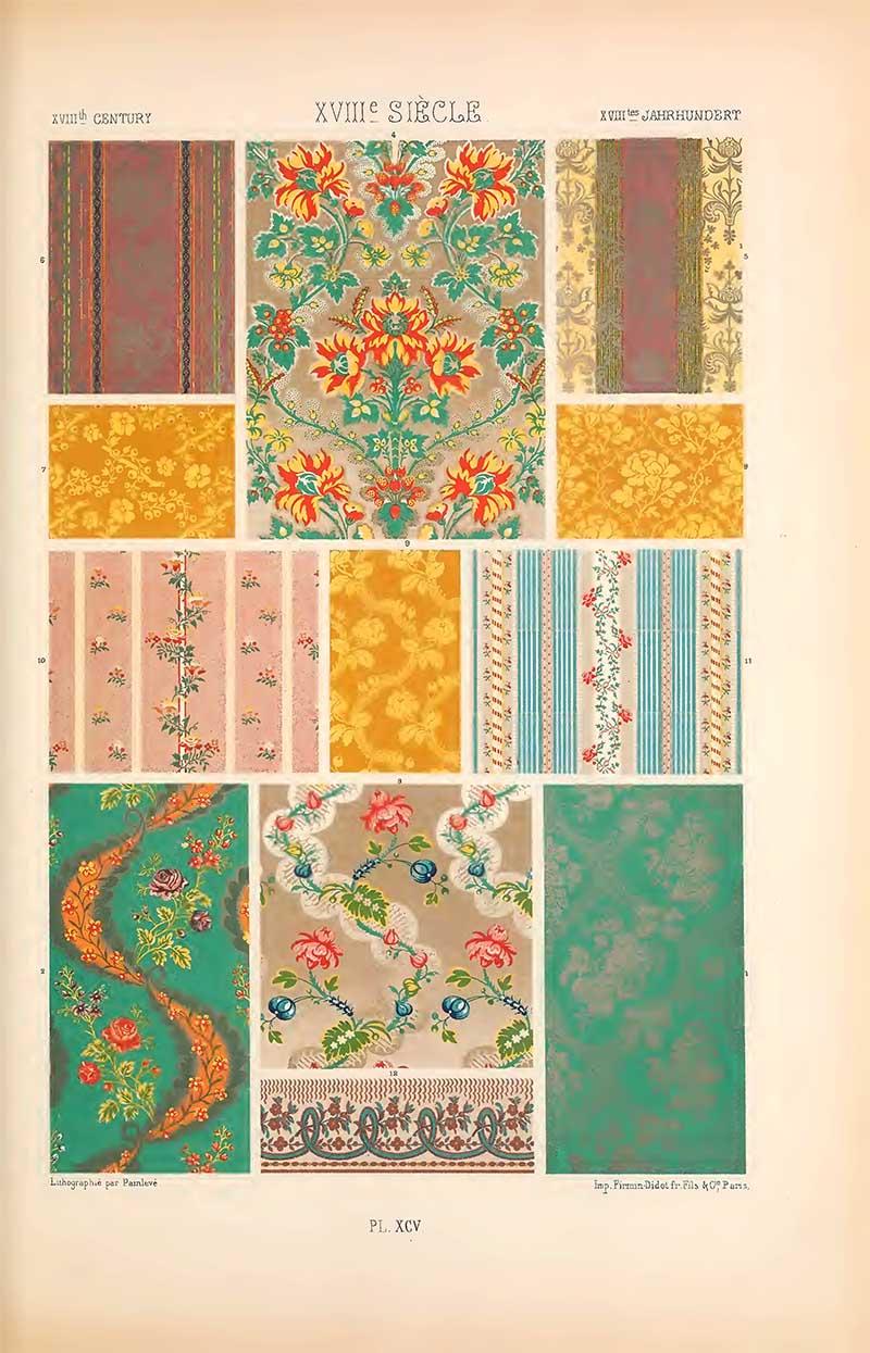 Eighteenth century patterns for silks