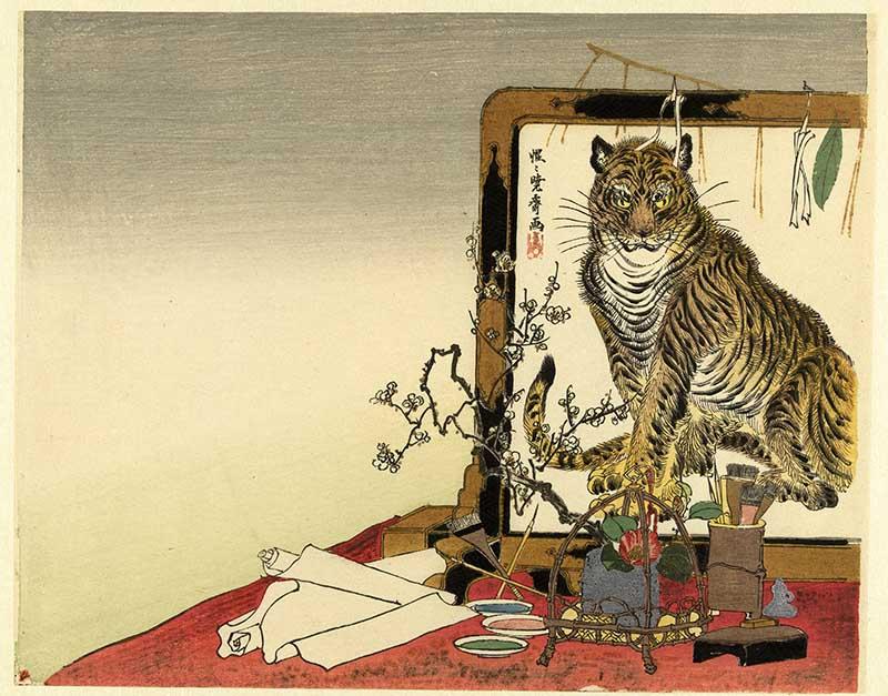 Japanese-Woodblock-tiger