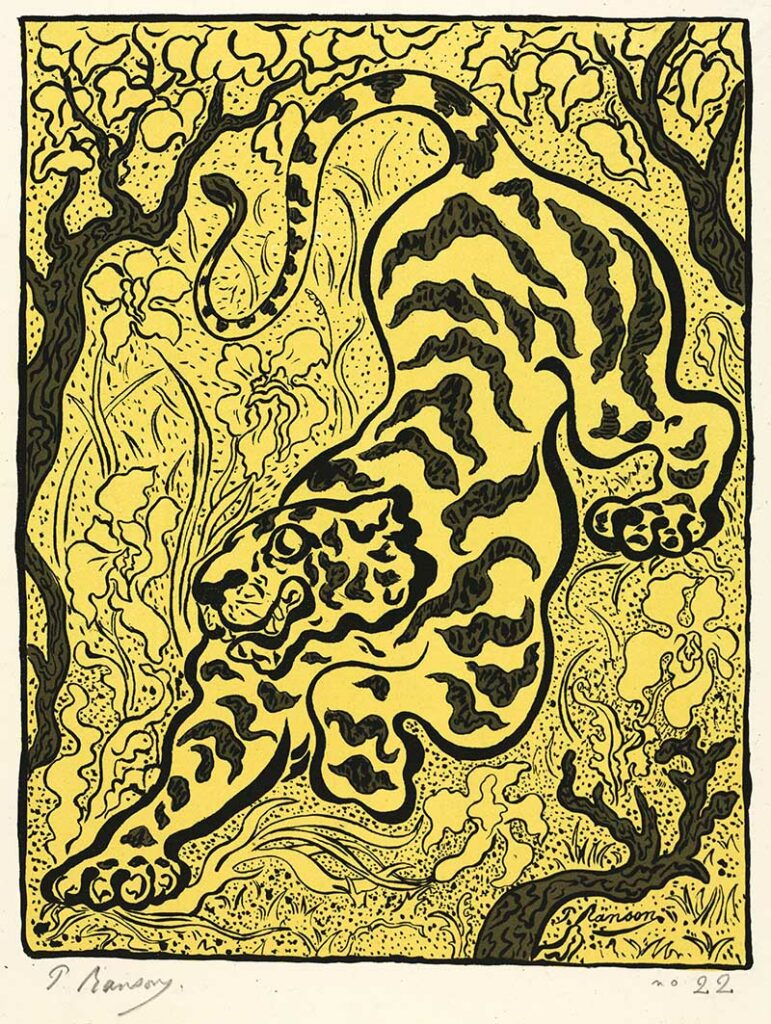 tiger drawings in the jungle