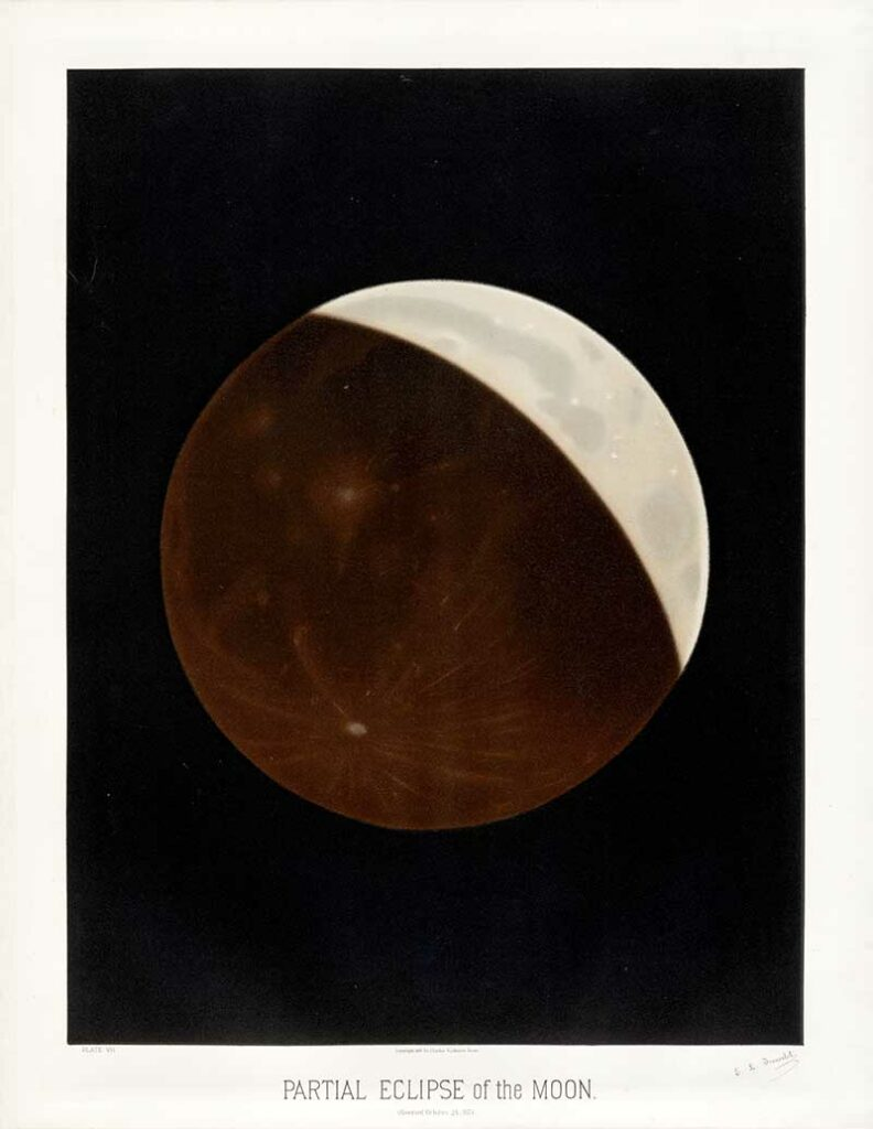 Toruvelot's Astronomical posters of partial eclipse of the moon
