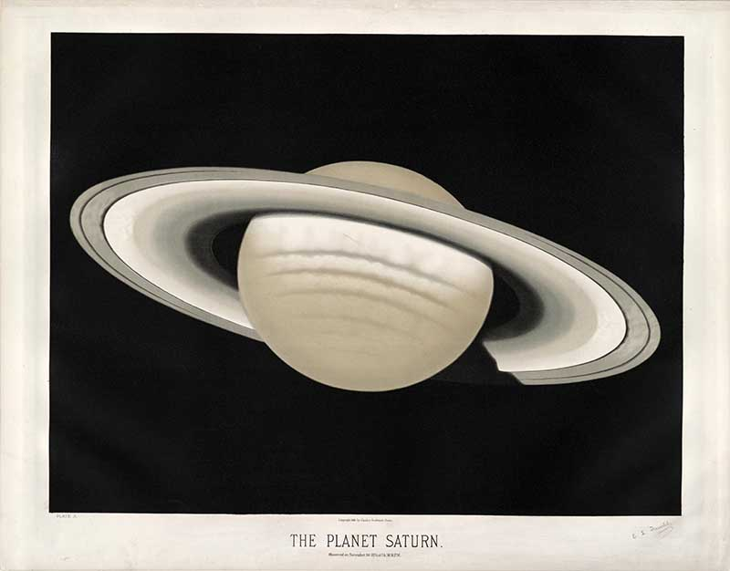 Astronomical Poster of the planet Saturn