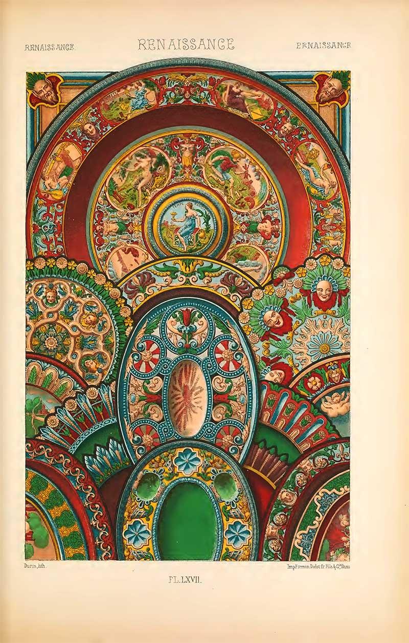 Renaissance Earthenware L'Ornement Polychrome