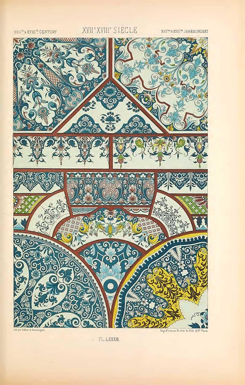 Albert Racinet earthenware patterns