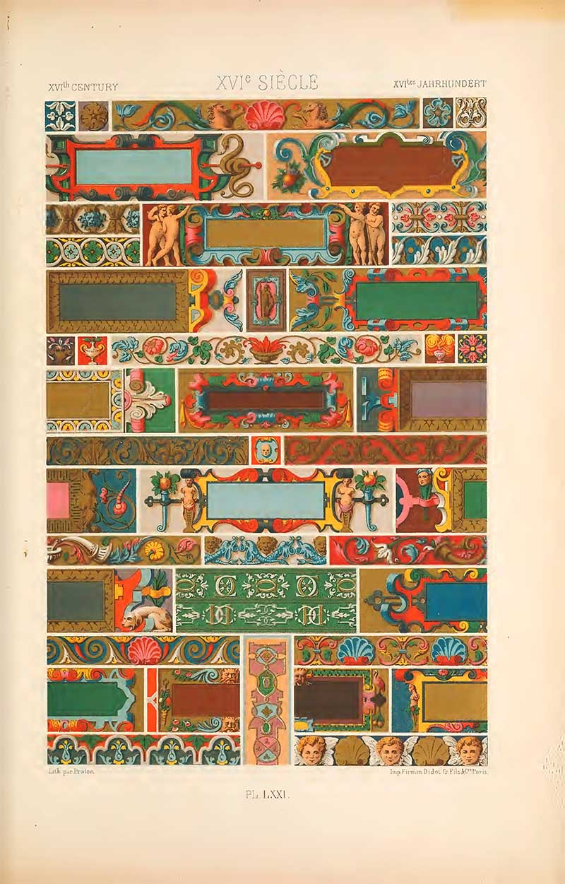 Sixteenth Century Cartouches L'Ornement Polychrome