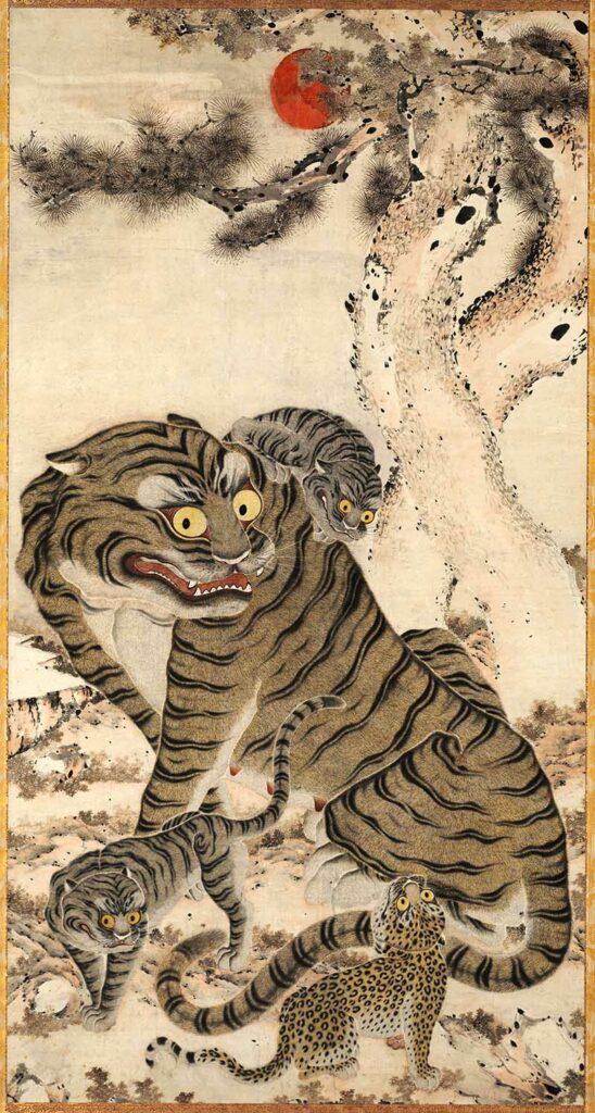 Tiger-family-korean-art