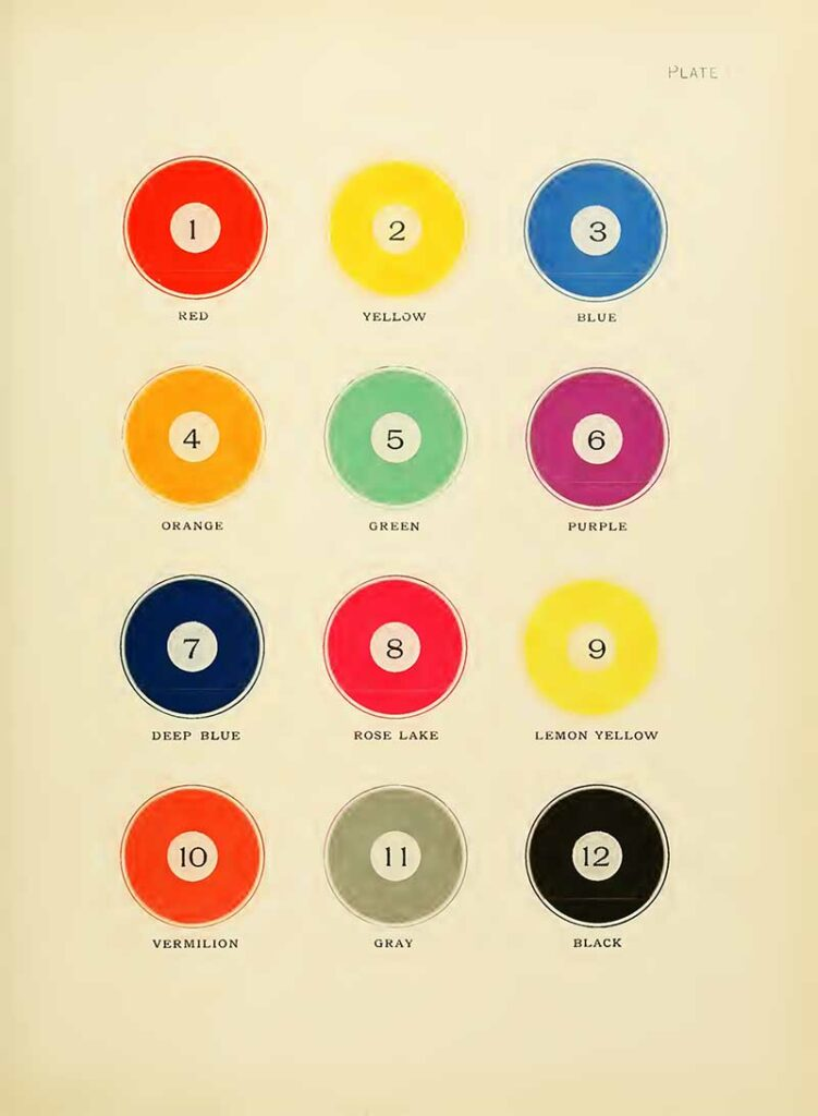 printers color chart