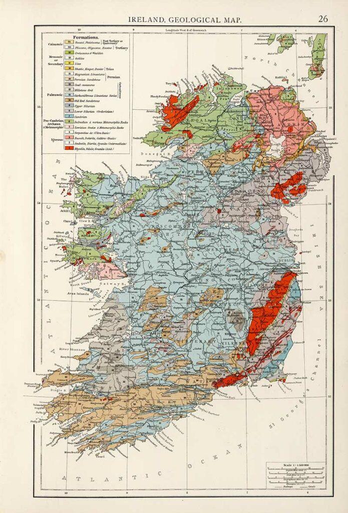 1900 Geological Map of Ireland