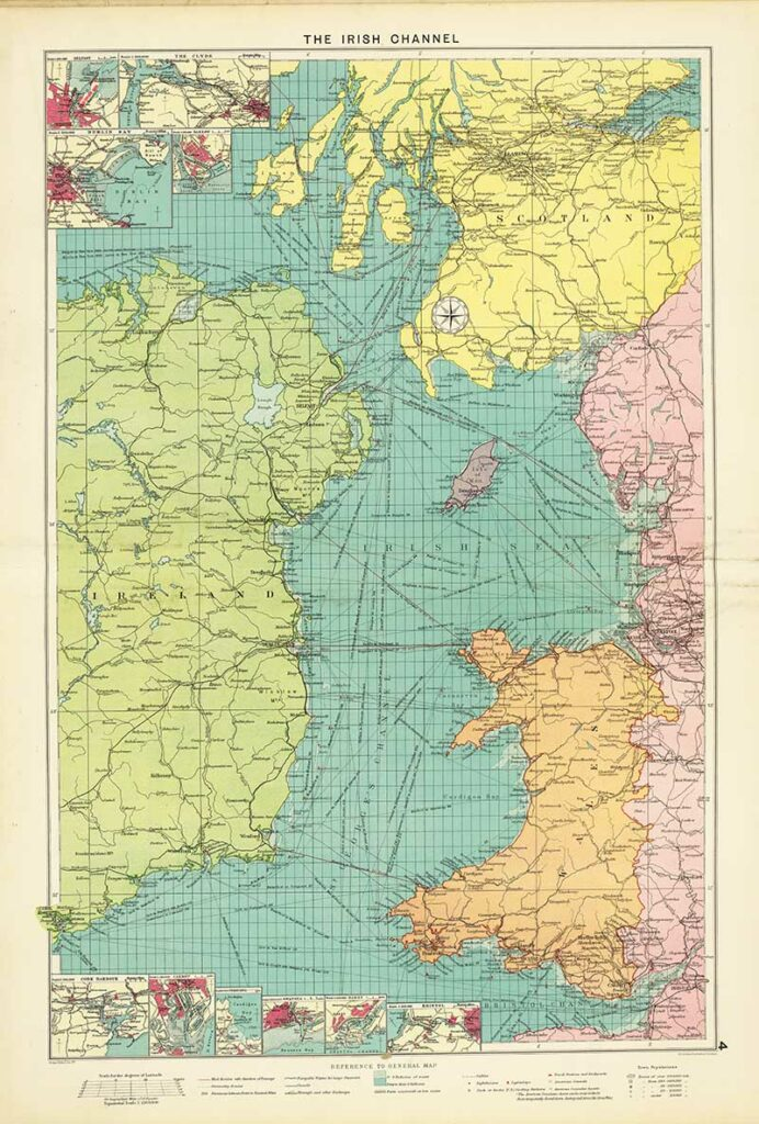 1922 Map of the Irish Channel