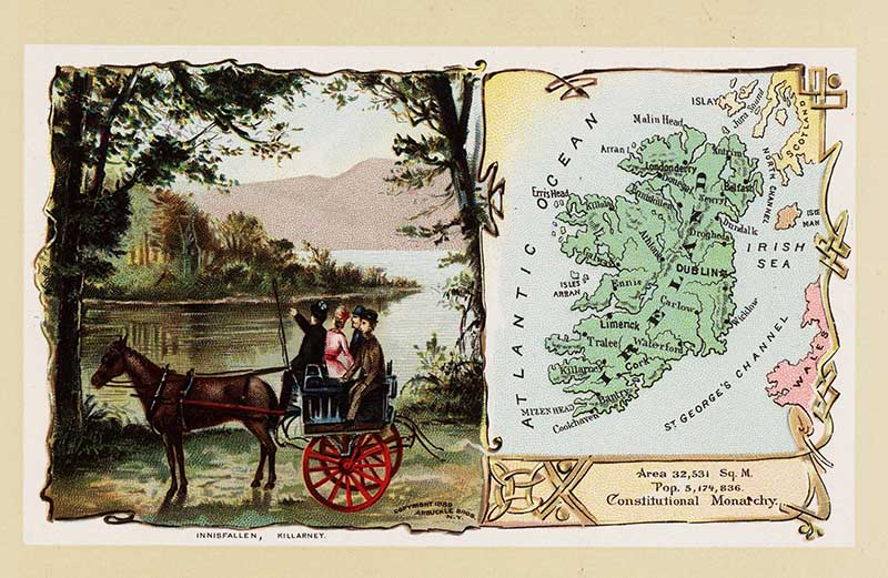 Postcard Pictorial Map of Ireland