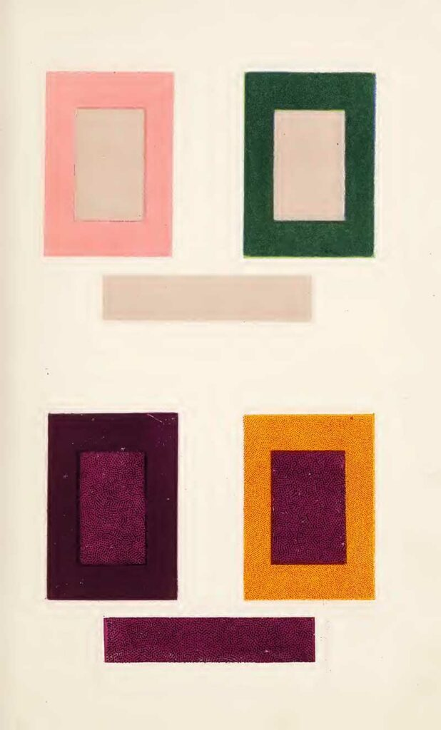 intermingled colours