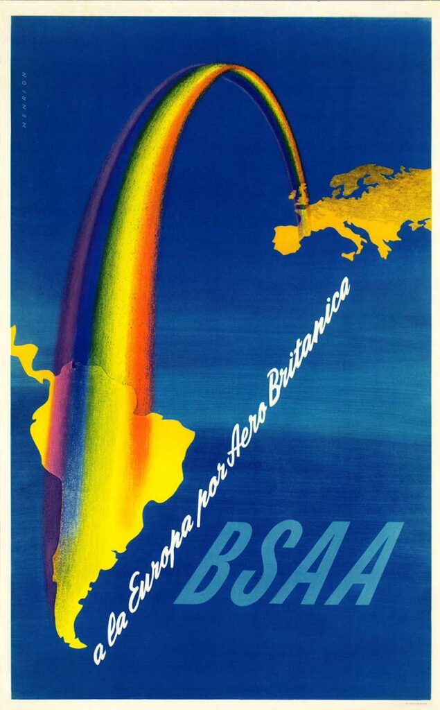 BSAA Vintage Airline Poster