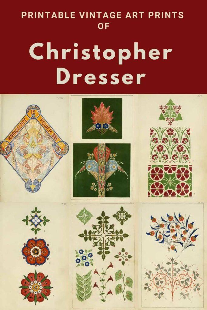 Cchristopher-Dresser-design prints