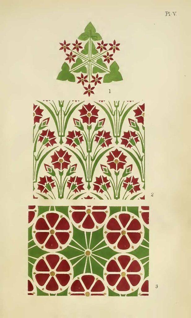 Christopher Dresser Geometric floral patterns