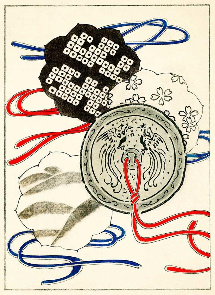 Illustration of Japanese Pendants
