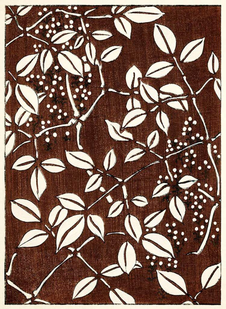 Leaves on Brown
