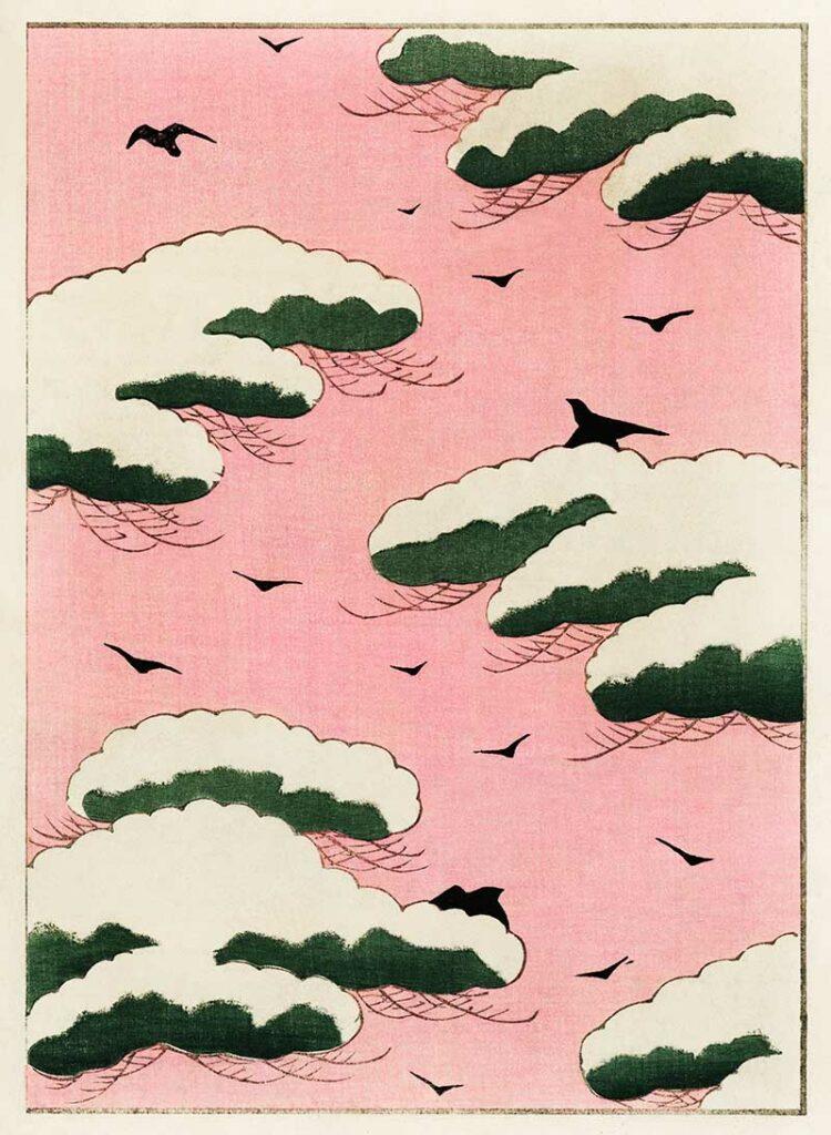 Pink Sky Watanabe Seitei prints