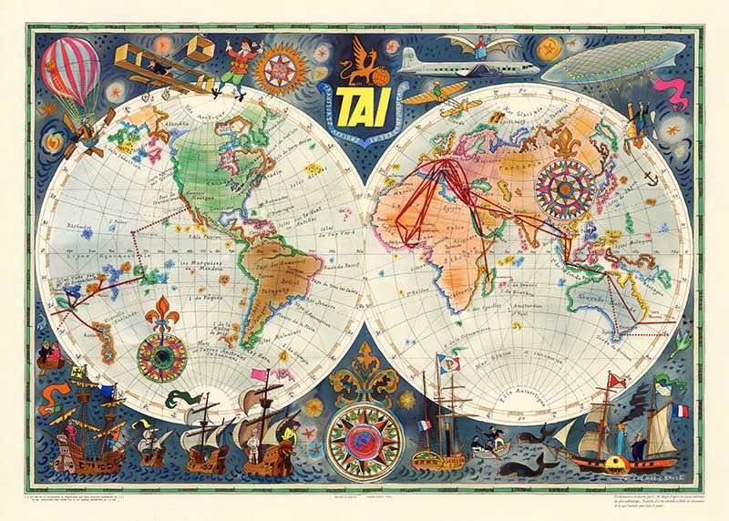 TIA-Vintage-airline-poster-world-map