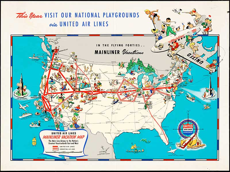 United Airline US Route Map
