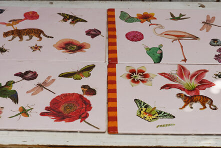 All four decoupage placemats