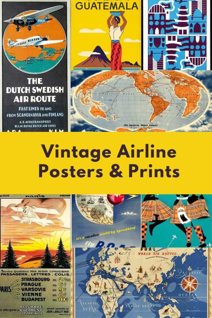 Vintage Airline Posters and Prints