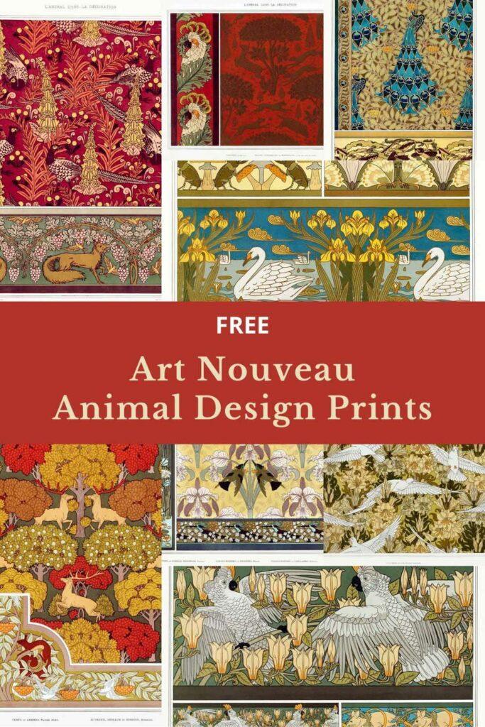 Art-nouveau-animal-designs-
