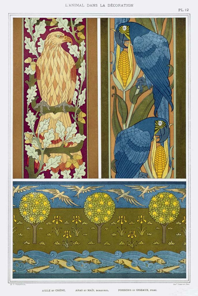 eagles and macaws pattern