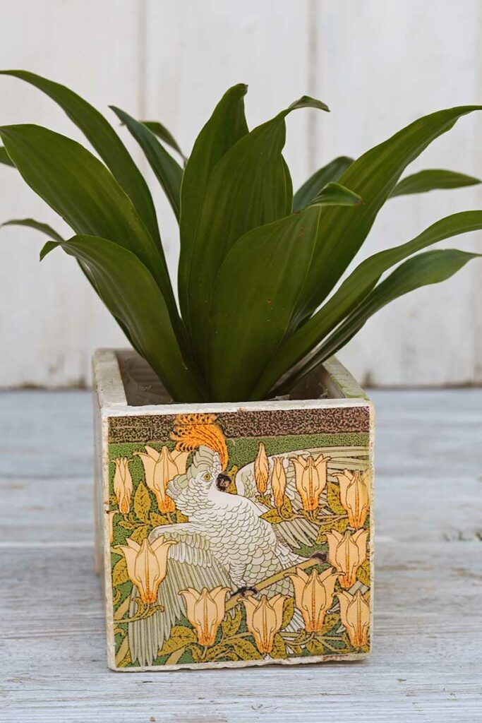 art nouveau tile planters